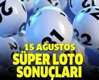15 Ağustos Süper Loto çekiliş sonuçları açıklandı!