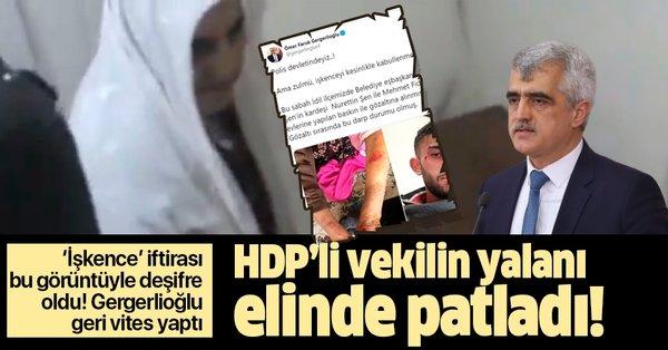 HDP'li Ömer Faruk Gergerlioğlu'nun yalanı elinde patladı! İşte 'işkence' iftirasını deşifre eden görüntüler - Takvim