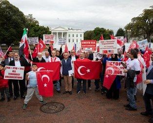Beyaz Saray önünde Barış Pınarı Harekatı'na destek