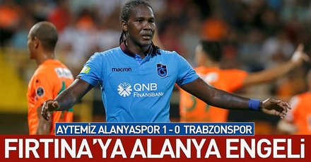 Fırtınaya Alanya engeli! (MS: Aytemiz Alanyaspor 1-0 Trabzonspor)