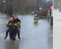 Sarıyer'de dere taştı! 4 evi su bastı...