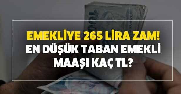 Emekliye 265 lira zam! SSK-SGK-Bağkur'lu emekli maaşları yattı mı?