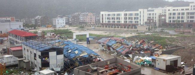 Çin'de Lekima Tayfunu: 22 ölü