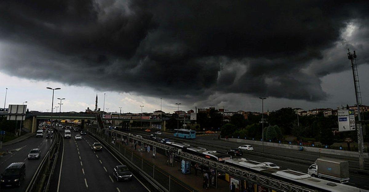 Meteorolojiden Kuvvetli Fırtına Uyarısı Istanbulda Bugün Hava