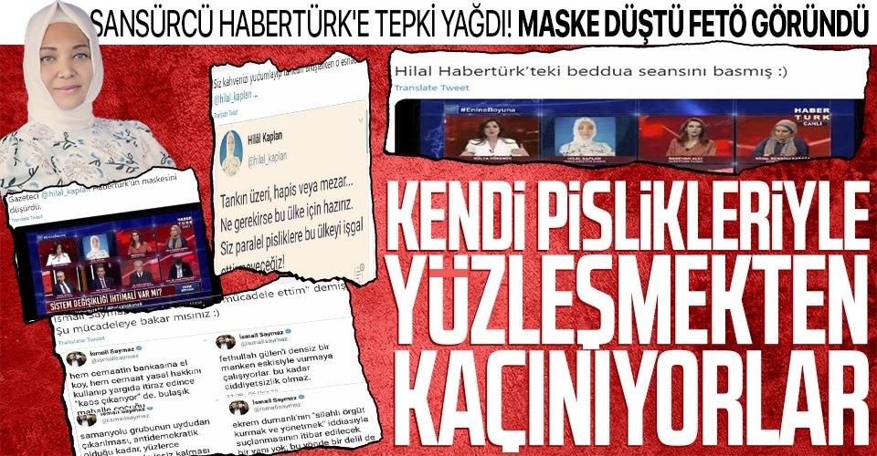 Hilal Kaplan Habertürk'ün maskesini düşürdü