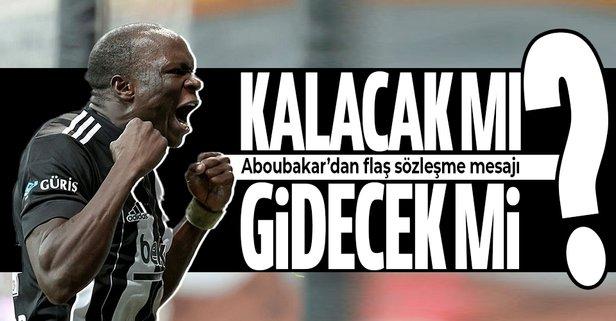 Beşiktaş'ın golcüsü Aboubakar'dan flaş sözleşme açıklaması