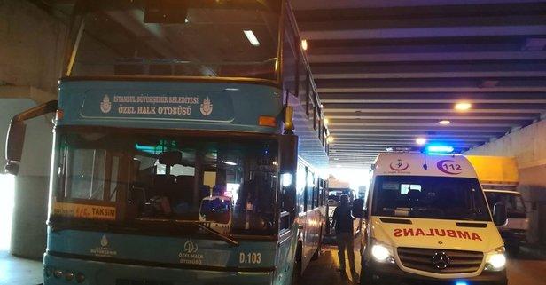 Fatihte minibüs, özel halk otobüsüne çarptı: 10 yaralı