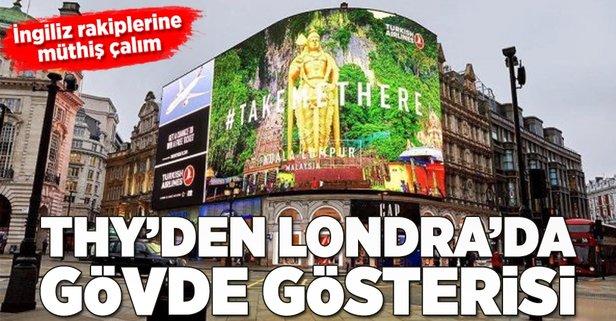 Londrada Piccadilly Meydanını süsleyen THY reklamı