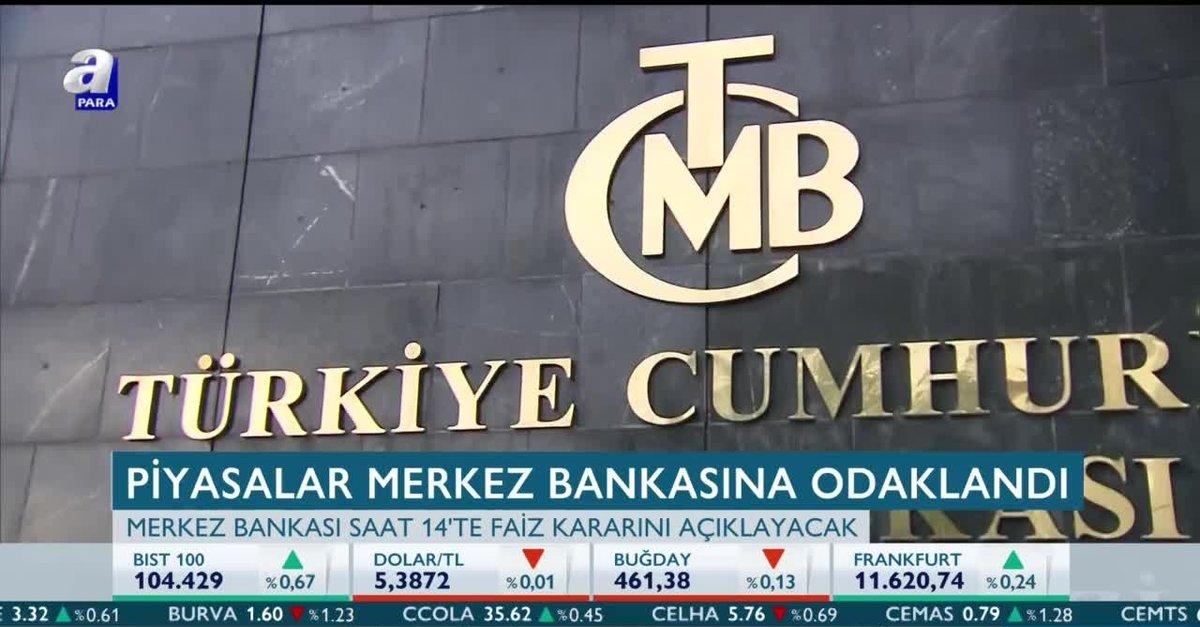 Piyasalar Merkez Bankasının Faiz Kararına Odaklandı Merkez Bankası
