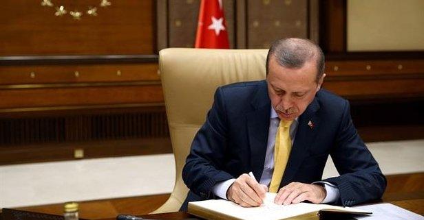 Başkan Erdoğandan yeni atama kararları