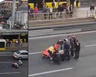 İstanbul'da intihar girişimi! Üst geçitten atladı