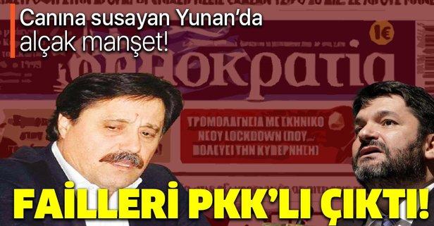Yunan paçavrasının yazar kadrosunda PKK'lı isimler var!