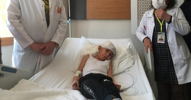 Başına yorgun mermi isabet eden 6 yaşındaki Eymen...