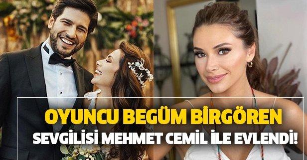 Begüm Birgören ile Mehmet Cemil evlendi!
