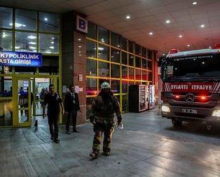 İstanbul'da hastane yangını! Hastalar tahliye edildi