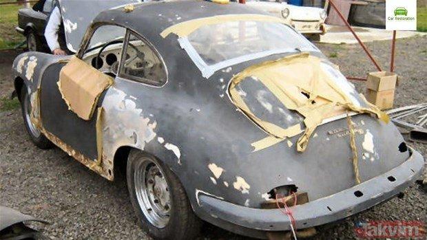 1955 model Porsche'yi öyle bir hale getirdi ki... Görenler şaşkına döndü!