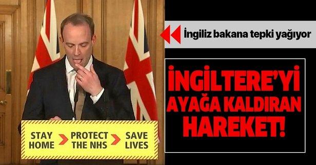 İngiliz bakanın o hareketi büyük tepki çekti!