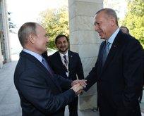 Erdoğan-Putin görüşmesinde dikkat çeken kare