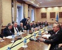Bakan Çavuşoğlu Kıbrıs görüşmelerine katıldı