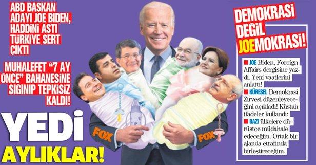 ABD Başkan Adayı Joe Biden'ın küstah sözlerine muhalefet 7 ay önce bahanesine sığınıp tepkisiz kaldı! - Takvim