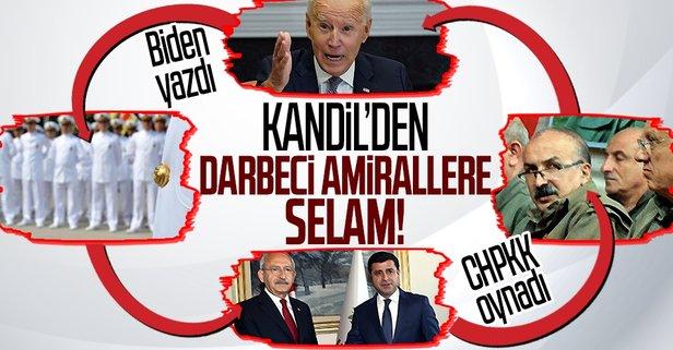 PKK'nın elebaşlarından darbeci amirallere selam!