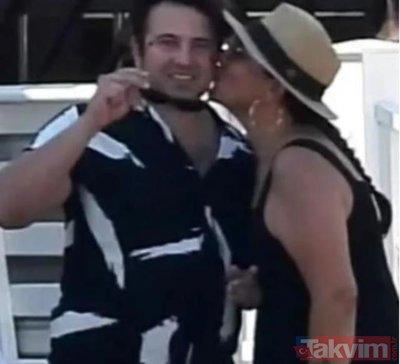 Işın Karaca plajda aşka geldi! 21 yaş küçük sevgilisi Can Yapıcıoğlu'nun öpücüklere boğdu gören dönüp bir daha baktı