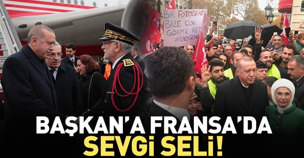 Başkan Erdoğan Fransaya geldi
