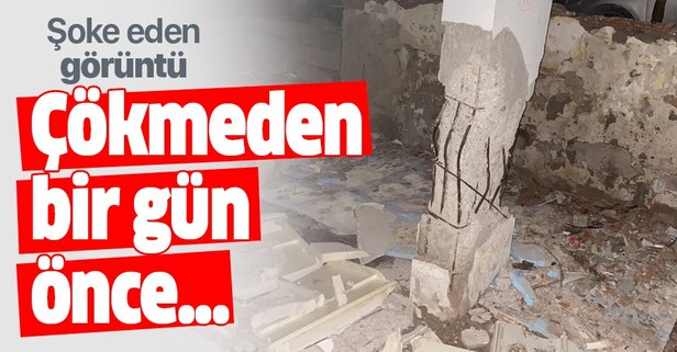Çöken binanın çökmeden önceki görüntüleri ortaya çıktı