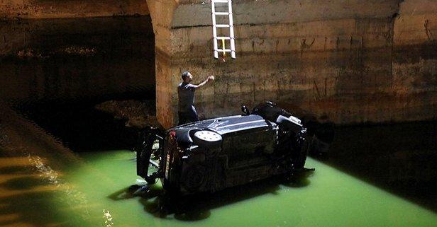 İzmir'de korkutan kaza! Otomobil dereye uçtu