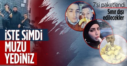 'Muz' videosu çeken provokatörler gözaltında!