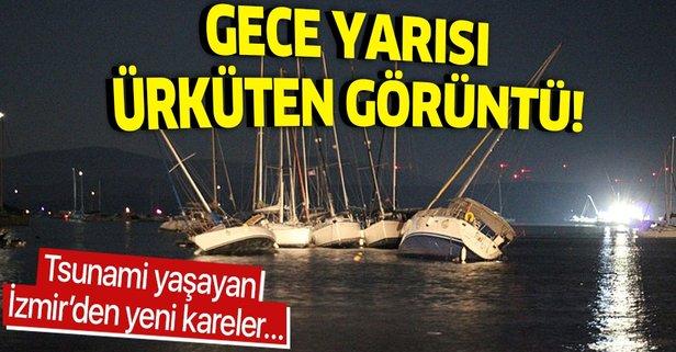 İzmir'den gece yarısı korkutan görüntü
