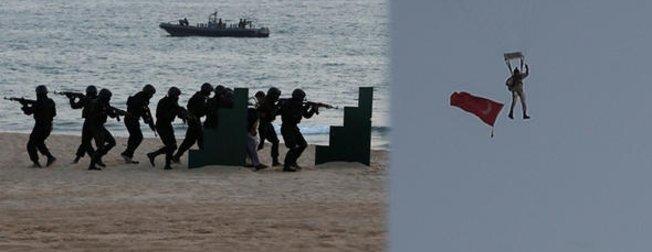 Deniz Kuvvetlerinden nefes kesen tatbikat