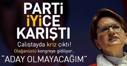 İYİ Partiden olağanüstü kongre kararı! Akşener aday olmayacak...