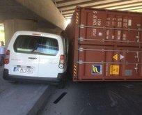 Bakırköyde TIR kazası! Trafik kilitlendi