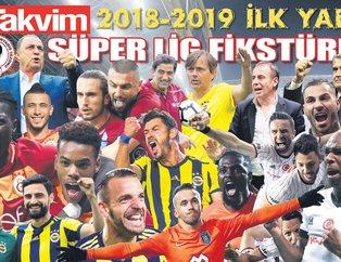 2018-2019 ilk yarı Süper Lig fikstürü