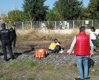 Yük treninin çarptığı adam hayatını kaybetti