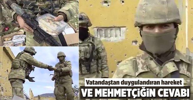 Afrinde Mehmetçikten mesaj var