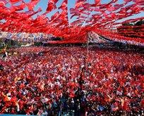 AK Partinin Gaziantep mitinginden muhteşem görüntüler