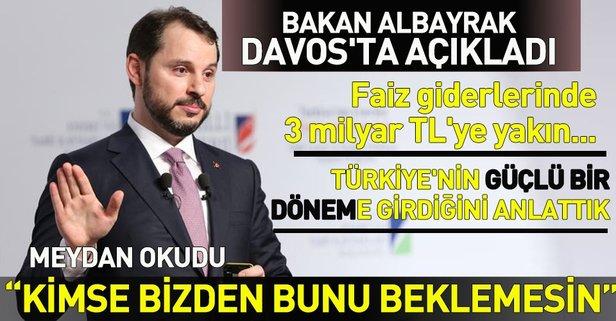Bakan Albayrak Davos'ta açıklamalarda bulundu