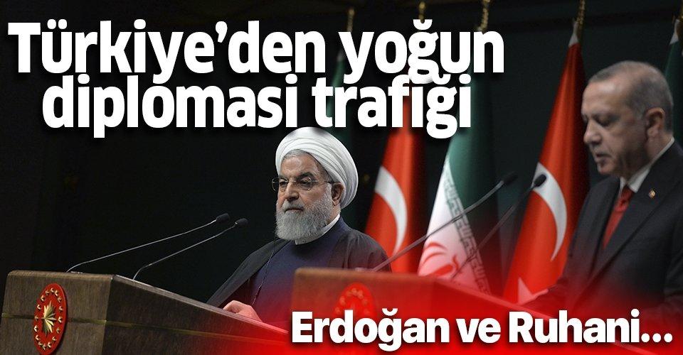 Başkan Erdoğan, İran Cumhurbaşkanı Ruhani ve Irak Cumhurbaşkanı Salih ile telefonda görüştü