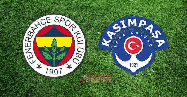 Fenerbahçe Kasımpaşa maçı canlı izle!