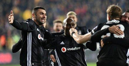 Yeni Malatya'yı yenen Beşiktaş gözünü Fener' dikti