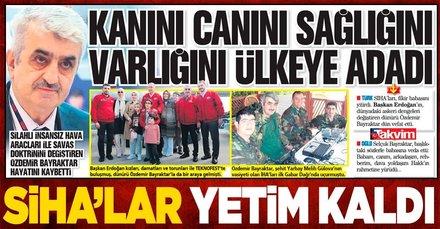 Silahlı insansız hava araçları ile savaş doktrinini değiştiren Özdemir Bayraktar hayatını kaybetti