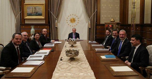 Başkan Erdoğan başkanlığında toplandı