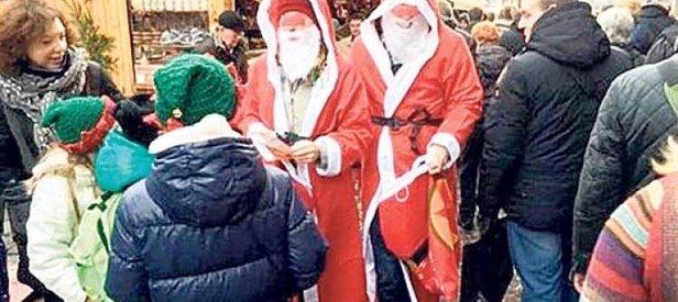 Noel Baba kılığında terör propagandası