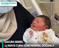 O hastanenin ilk bebeği dünyaya geldi