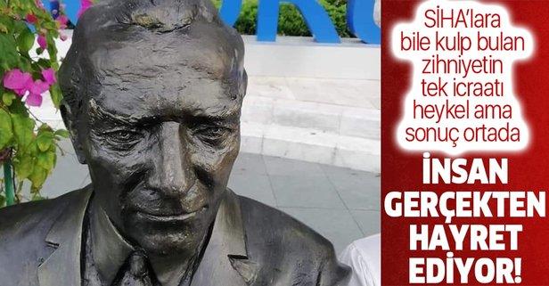 Bodrum Belediyesi'nin Atatürk heykeli tartışma yarattı