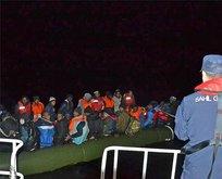 Egede hareketli dakikalar! 83 göçmen...