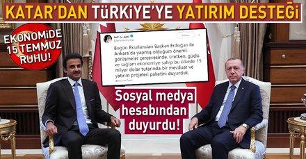 Son dakika: Katar'dan Türkiye'ye yatırım desteği