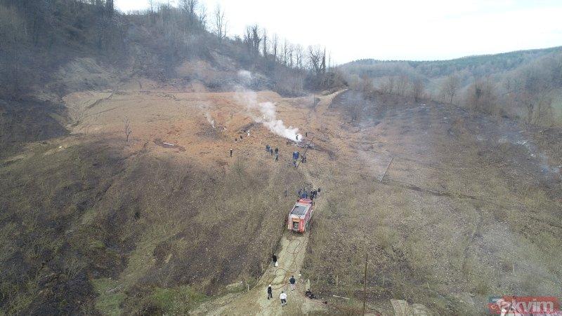 Sakarya'daki doğalgaz patlaması sonrası boru hattı bu hale geldi
